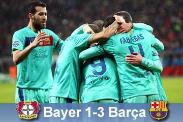 Champions leage game Bayer - Barça