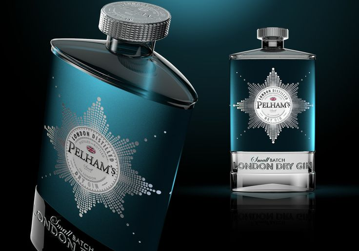 Pelhams Gin Structure by Design Happy UK  ©Design Happy 2014. Beautiful gin packaging PD