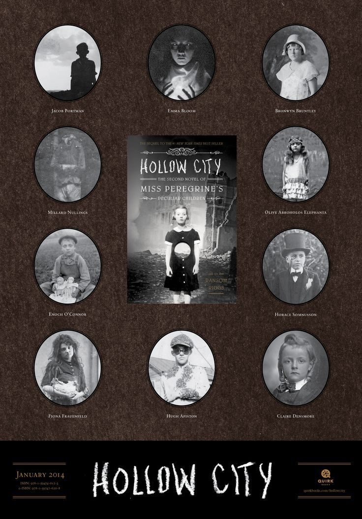 Hollow City by Ransom Riggs legal-sized poster #books #education