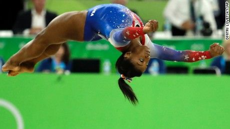 Simone Biles wins fourth Olympic gold with floor  - she's amazing.