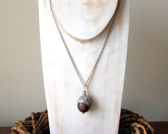 Ghianda collana collana di legno Acorn collana di BlackStar