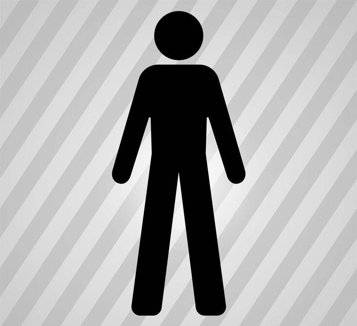 Male Bathroom Symbol Silhouette -  Svg Dxf Eps Rld Rdworks Pdf Png Ai Files Digital Cut Vector File Svg File Cricut Laser Cut