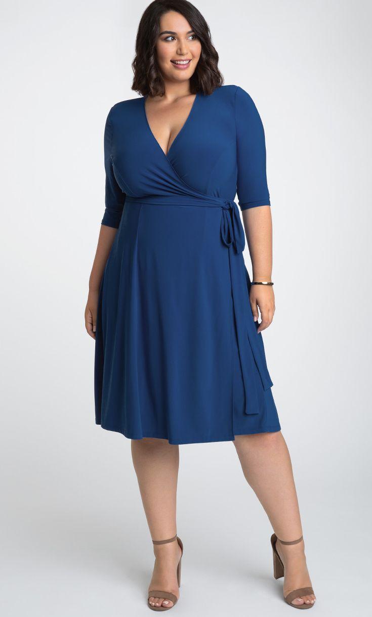 Kiyonna Womens Plus Size Essential Wrap Dress - Sale! 7