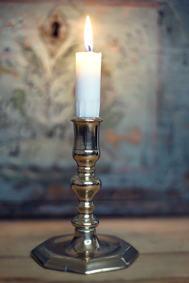 Old Norwegian candlestick -  Baroque, 1700s