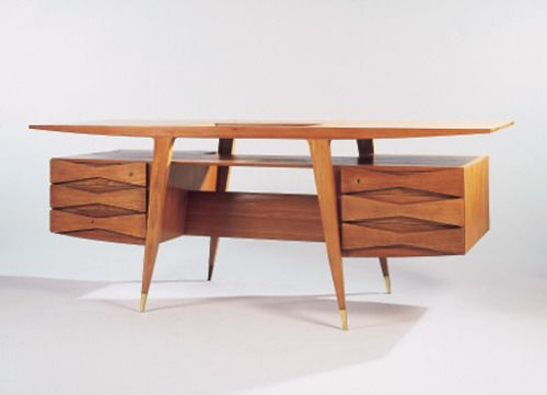 Gio Ponti Teak Desk, 1950
