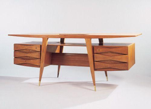 nickkahler:  Gio Ponti, Teak Desk, 1950
