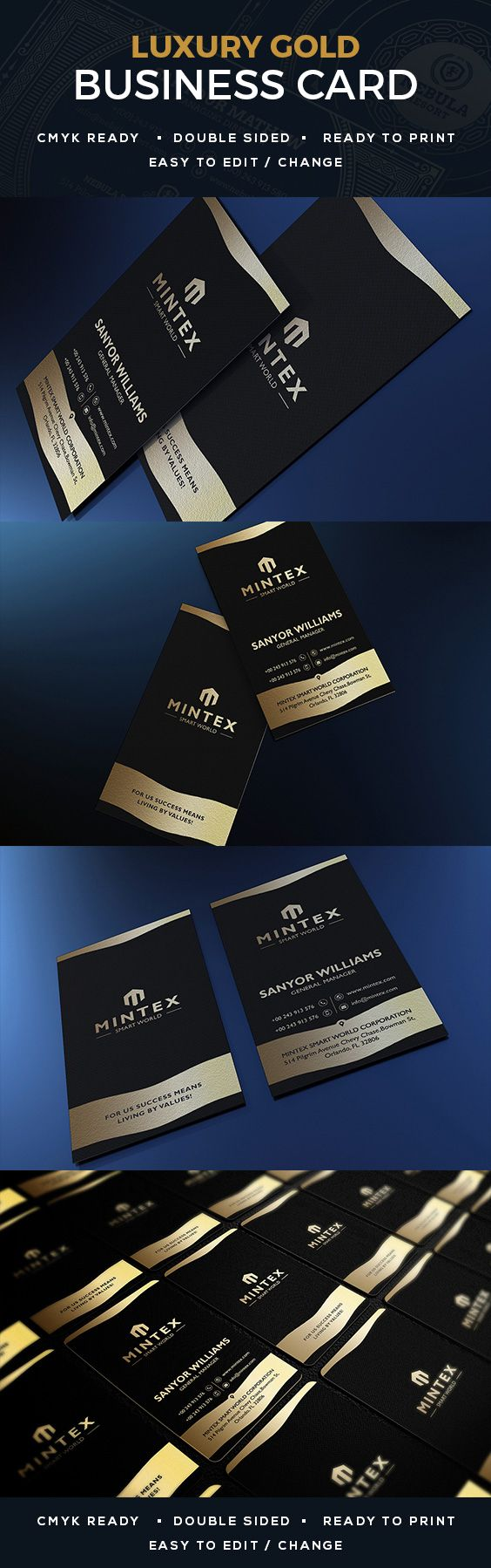 78 best creative business cards images on pinterest corporate luxury gold business card magicingreecefo Choice Image