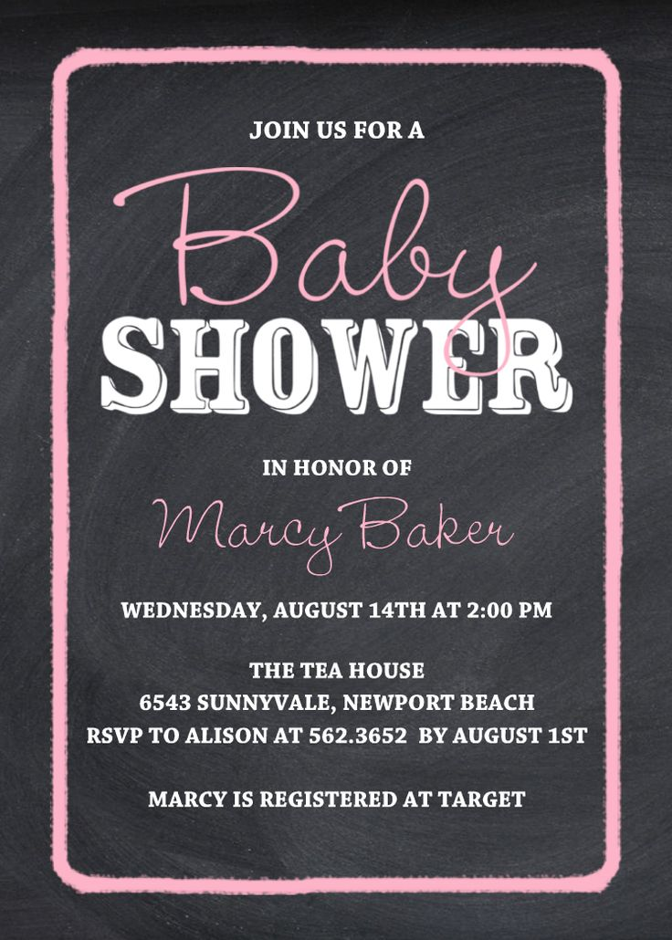 Chalk Baby Shower