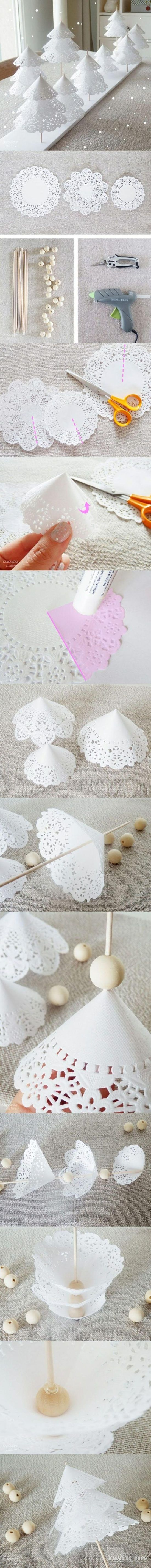 Best Diy Doily Paper Christmas Tree Tutorial With Video | The WHOot