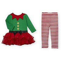 Koala Baby 2 Piece Red/Green Tutu Elf Outfit   | @giftryapp