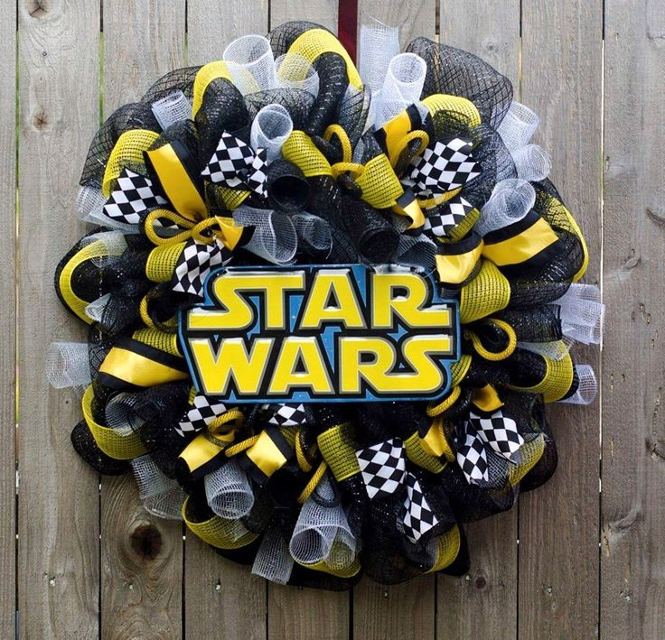 star wars wreath by ourinspiredcreations on etsy. Black Bedroom Furniture Sets. Home Design Ideas