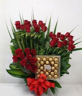 Arreglos Florales de rosas rojas Para El Día De La Madre