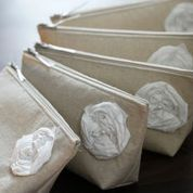 Rustic Linen Bridesmaid Clutches Customizable by GeauxMelange, $59.80