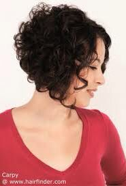 short curly bob hair cut