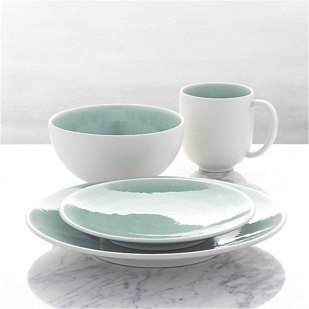 Handcrafted by a famed French ceramics factory founded in 1857, our casual, elegant dinnerware collection is all about the glaze. Unique finishes coat the clean, modern shapes with satin exteriors and vivid reactive glaze interiors. Offering the strength and durability of high-fired stoneware, each piece exhibits its own distinctive glazing effects.