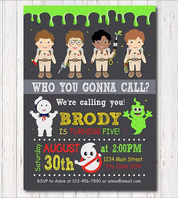 Ghostbusters Birthday Invitation Ghostbusters Party Boys