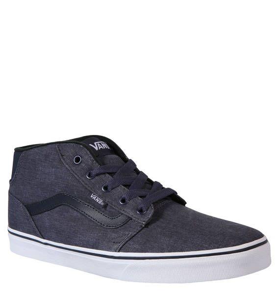 """#VANS #Sneaker #Chapman #Mid"""", #Canvas Der Sneaker ´´Chapman Mid"""" aus Canvas von VANS für Herren erhält seinen coolen Look durch die denim-ähnliche Färbung und den knöchelhohen Schnitt. Der Klassiker mal anders… VANS setzt dem ´´Chapman"""" sprichwörtlich noch eins drauf. Statt niedrigem Schaft gibt es nun die knöchelhohe Variante ´´Chapman Mid"""". Um den Schuh noch außergewöhnlicher zu machen, verarbeitet das Label hier speziell gefärbten Canvas, der an Jeans-Stoff erinnert. Die Details wie der…"""