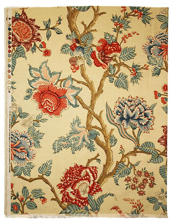 One Kings Lane - Summer in the Cotswolds - Floral Jacobean-Print Fabric