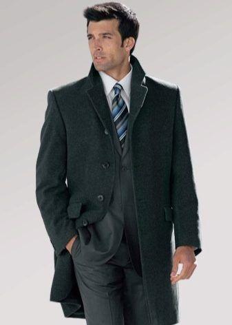 С чем носить мужское пальто (51 фото): пальто-бушлат, головной убор, серое, какую шапку носить, черное