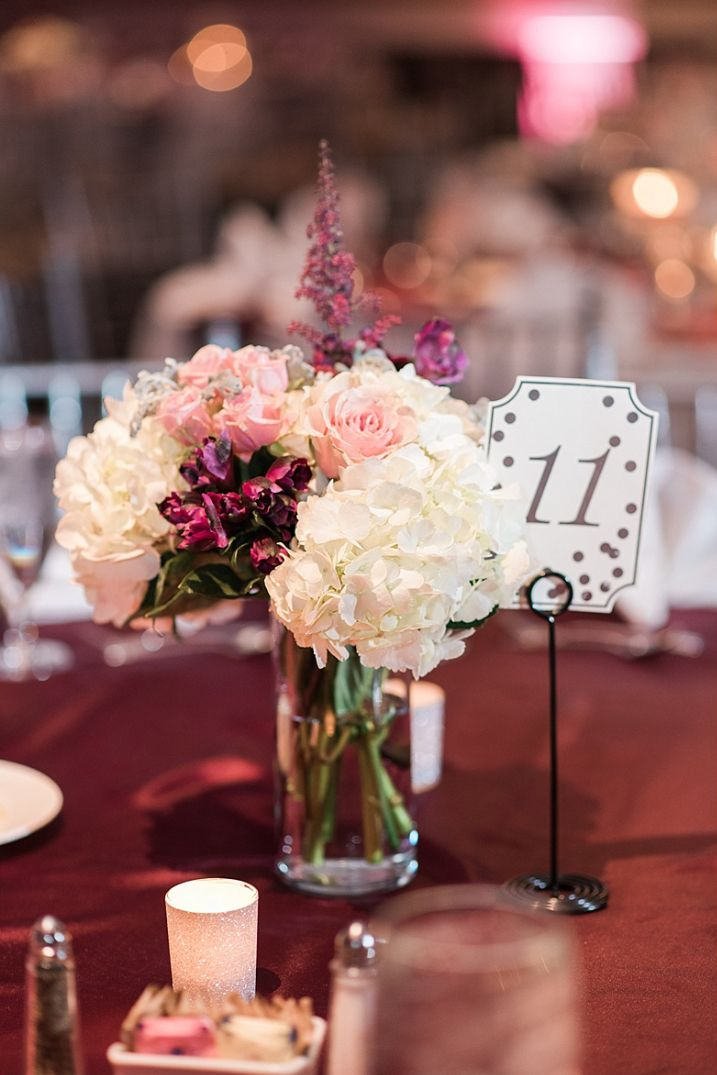 Burgundy And Blush Wedding At Piazza On The Green Wedding