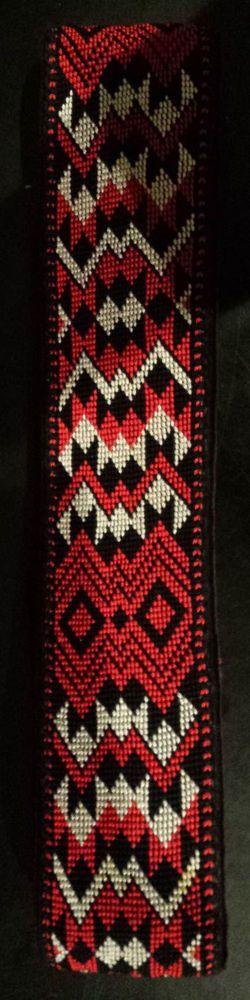 Music Accessories Guitar Strap Maori Design Hand Woven craft