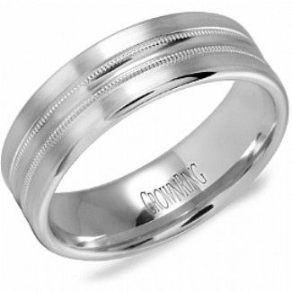 Crown Ring - Collections Wedding Bands Carved Wb 9545 M10