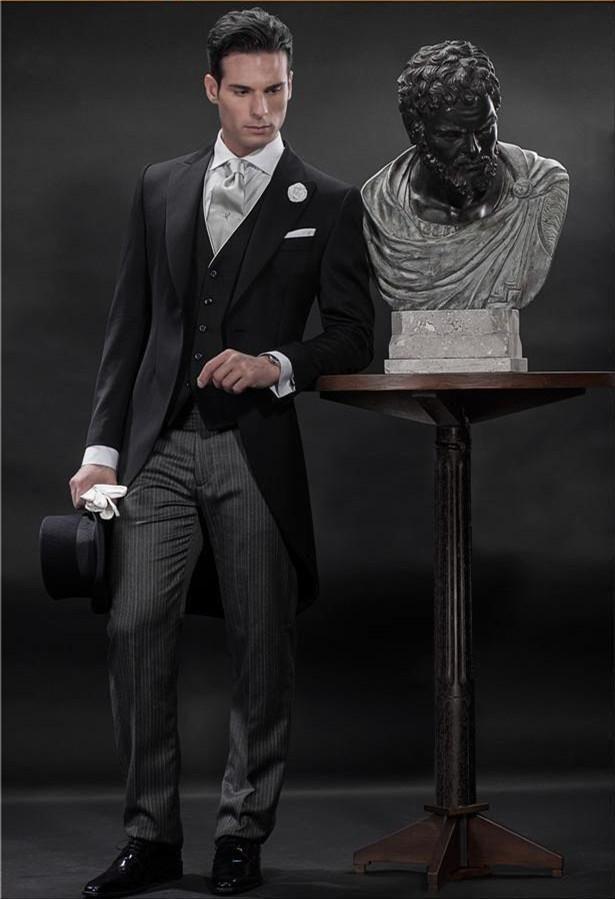 >> Click to Buy << Morning Style One Button Black Groom Tuxedos Groomsmen Men's Wedding Prom Suits Bridegroom (Jacket+Pants+Vest+Tie) K:590 #Affiliate