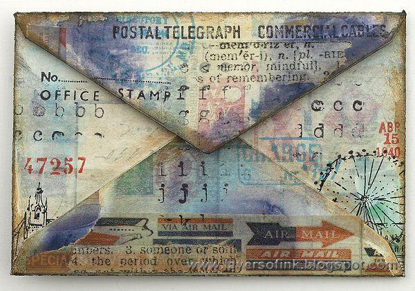 Retrieved from pinterest.com. 18 Jan. 2016. /// Layers of ink: Mixed Media Envelopes Tutorial