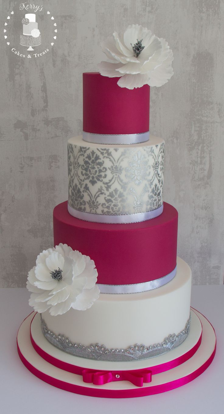 pink white and silver wedding cakes best 25 pink silver weddings ideas on blush 18601