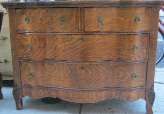 Uhuru Furniture & Collectibles: Tiger Oak 1920s Dresser SOLD