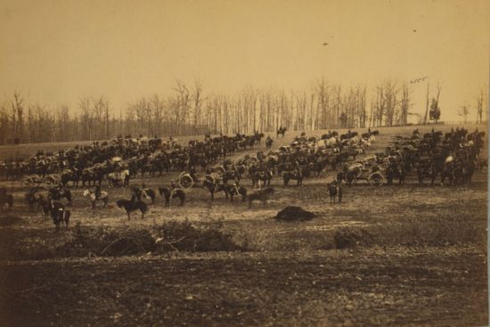 Historic Horse Photography; The American Civil War: Horse Artillery on Parade Grounds, photographed between 1861 and 1865, Library of Congress