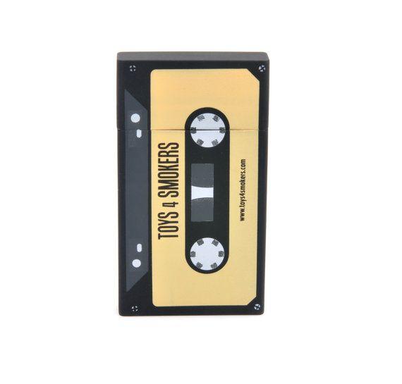 Cigarette Case Yellow Tape Slim by toys4smokers on Etsy, zł19.99 #etsy #design #yellowtape #toys4smokers #smoking #cigarette #retro #vintage