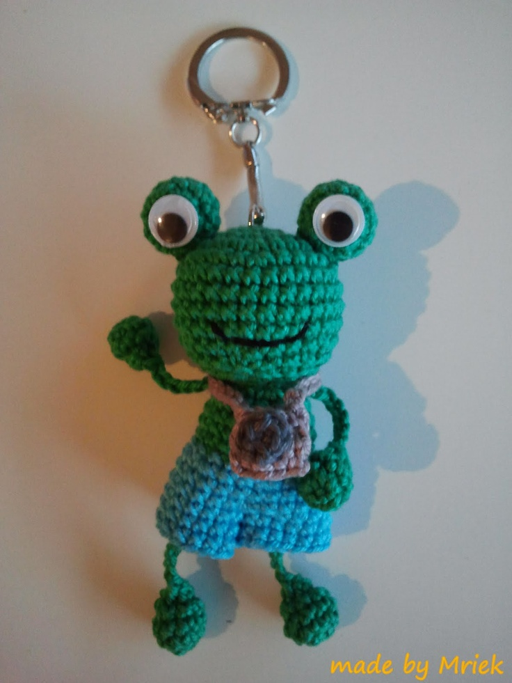 made by Mriek: Kikker sleutelhanger