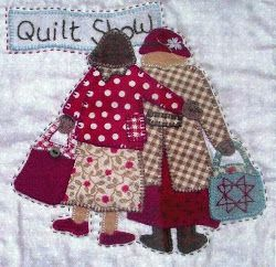 Two Patch Ladies. This could be me and my friend