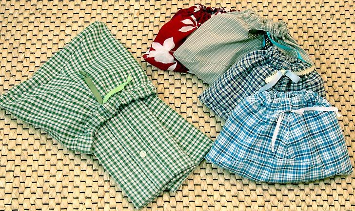 Re-make & Re-use: Napkins to Go from Dad's Old Shirts