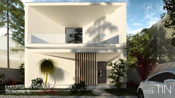 Proiecte case | Locuinta Minimalista Moderna Slobozia, IL | cod TIN  http://www.cubarhitect.ro/locuinta-minimalista-moderna-slobozia-ilaomita-proiect-din-portofoliul-cub-architecture-ro