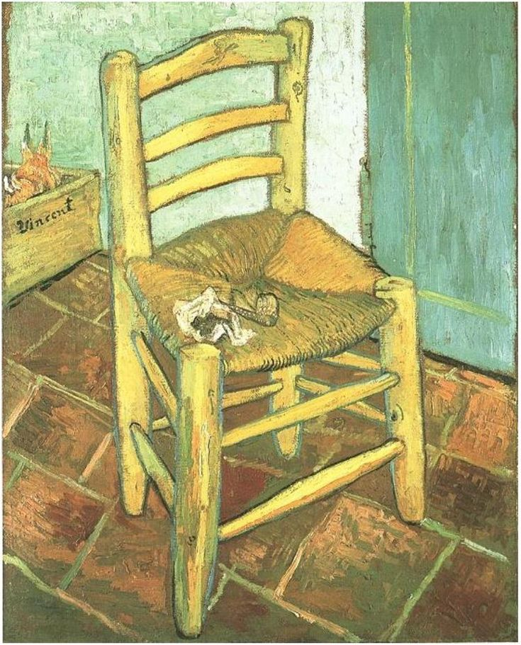 Van Gogh, Chair with Pipe.