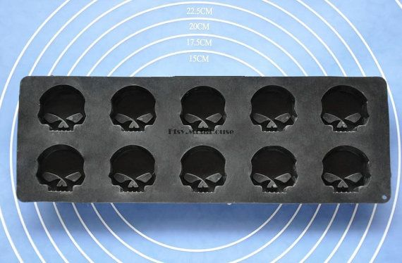 Skull Flexible Silicone Mold Cake Mold Chocolate Mold by MoldHouse, $3.99
