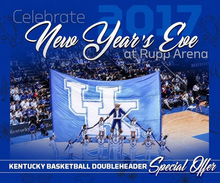 """We are teaming up with @kentuckywbb to ring in the New Year with double-dose of New Year's Eve basketball action. Use offer code """"UKNYE"""" for specially priced tickets on Ticketmaster.com."""