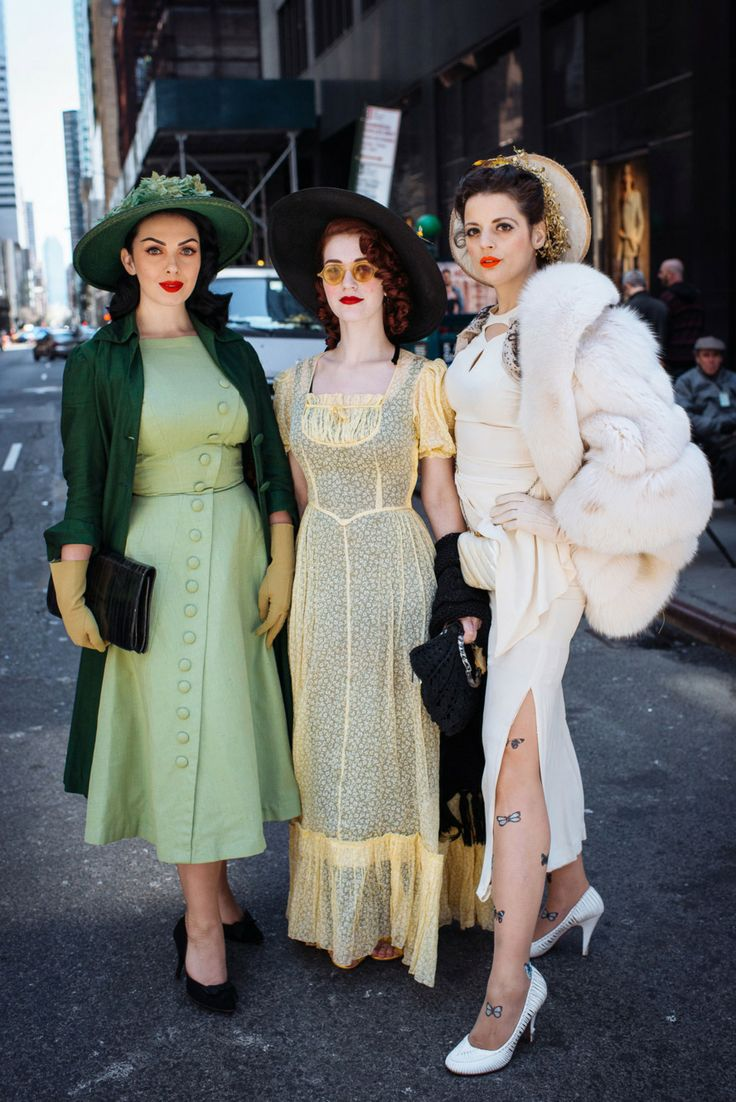 """Daphne (L), Darlene (M), Pandora (R), (occupations: """"This 'n' that at Easter Parade"""