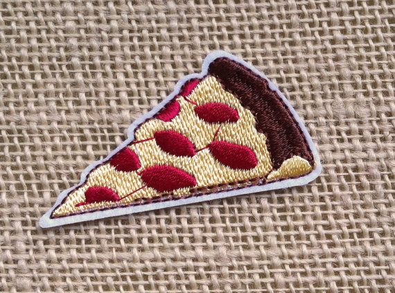 Pizza Patch Iron On Patches for Jackets by RainbowEffectsTieDye                                                                                                                                                                                 More