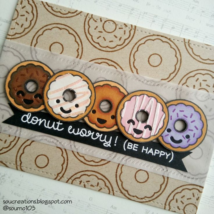 Sou Creations : Donut worry! (Lawn Fawn)                                                                                                                                                                                 Plus