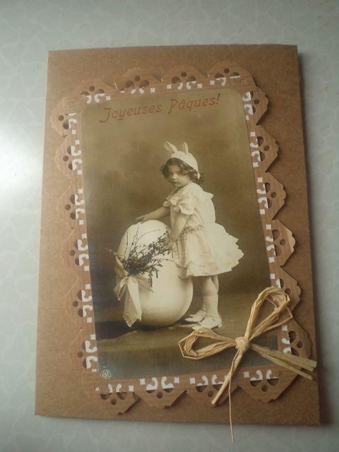 Velkonocna Vintage pohladnica