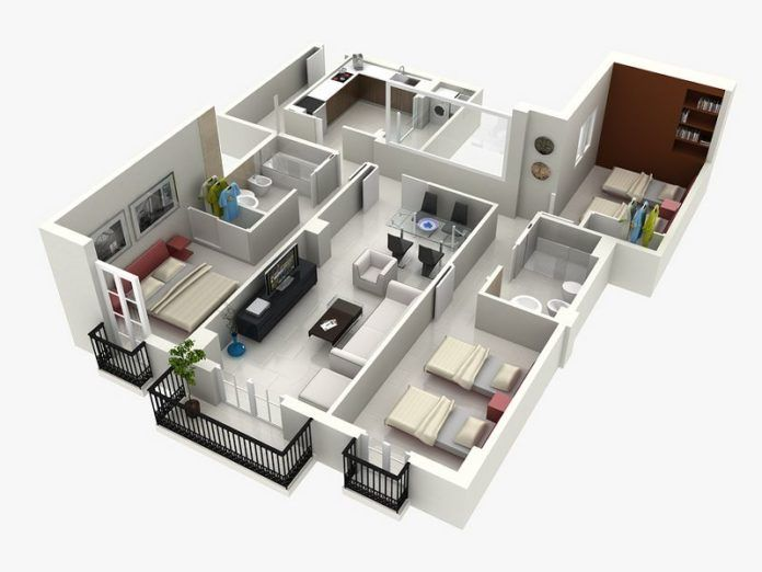 Amazing Top 10 House 3d Plans Amazing Architecture Magazine Home Building Design Three Bedroom House Plan House Plans