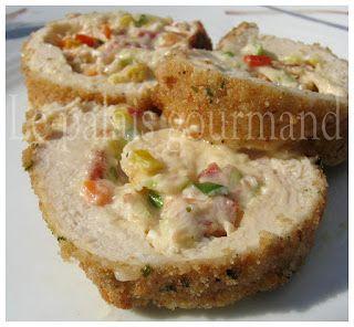Le palais gourmand: Poitrines de poulet farcies façon jalapeno popper
