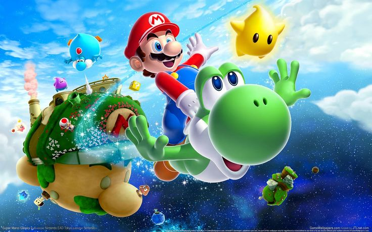 Mario Galaxy - many different planets of adventure and puzzles, where mario can travel between them, by either jumping over to the next planet or jumping into a cannon.