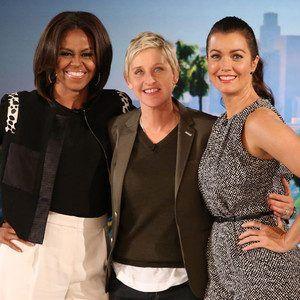 Bellamy Young, Michelle Obama, Ellen Degeneres Show