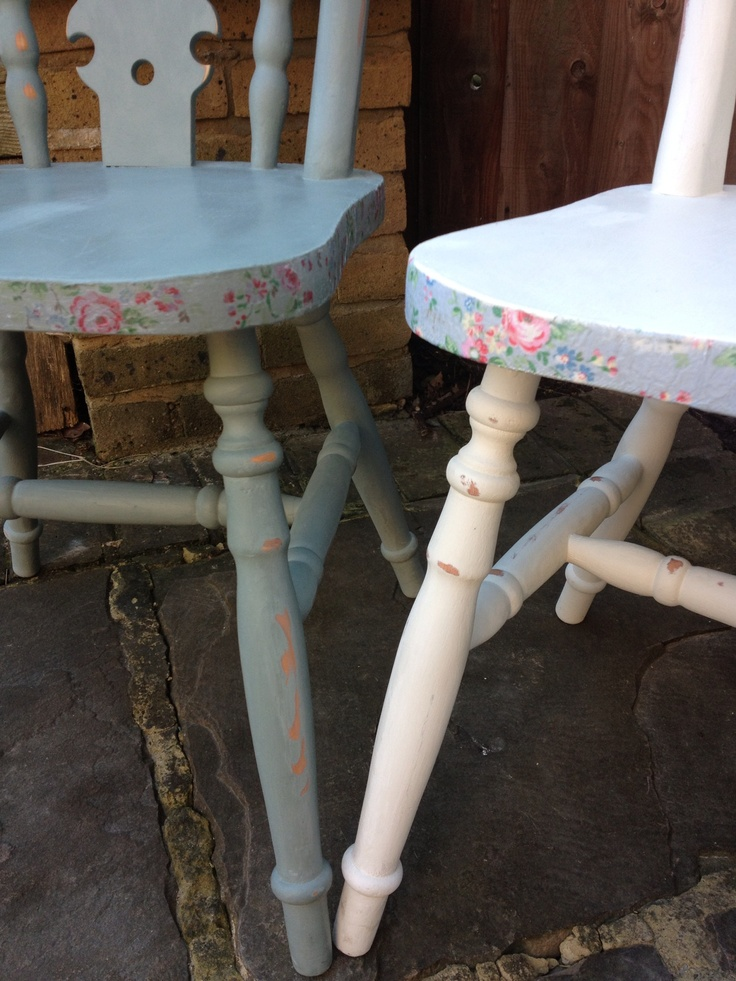 Loved doing this pair of chairs!
