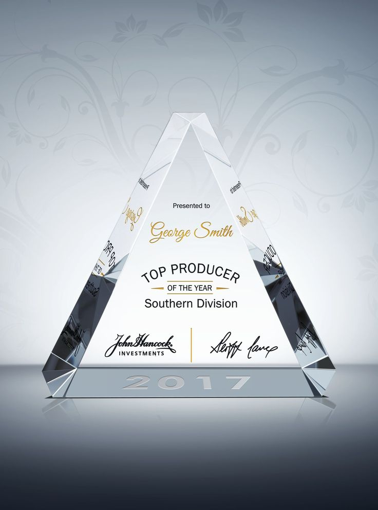 Say congratulations to all the top sales with this beautifully designed sales award plaque! This crystal Trinity Sales Award Plaque, with its beveled edges and substantial weight, offers you an excellent platform to congratulate your top sales.