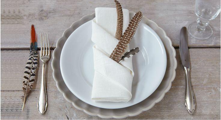 Pliage de serviette : les plis à secrets